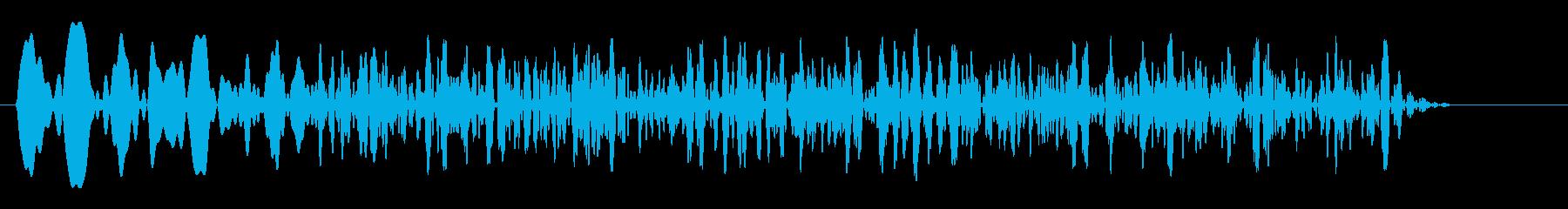 ウィィィィ〜ンという効果音の再生済みの波形
