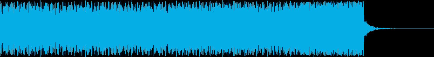 デジタル、CG、SFX等の映像ショート⑨の再生済みの波形