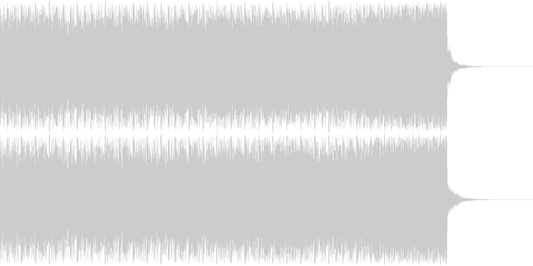 デジタル、CG、SFX等の映像ショート⑨の未再生の波形