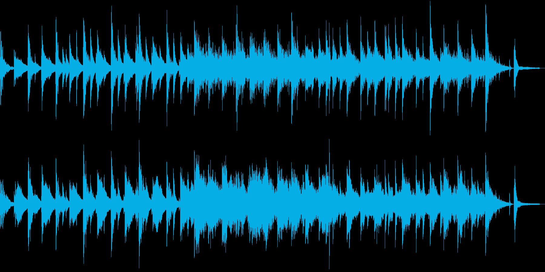 ゆったりした癒しBGMの再生済みの波形