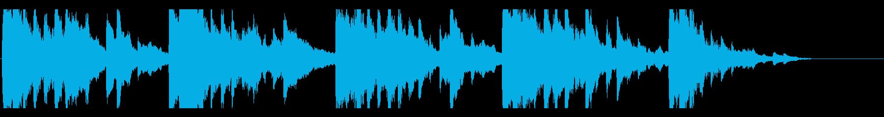 切なくしっとりとしたアンビエント風ピアノの再生済みの波形