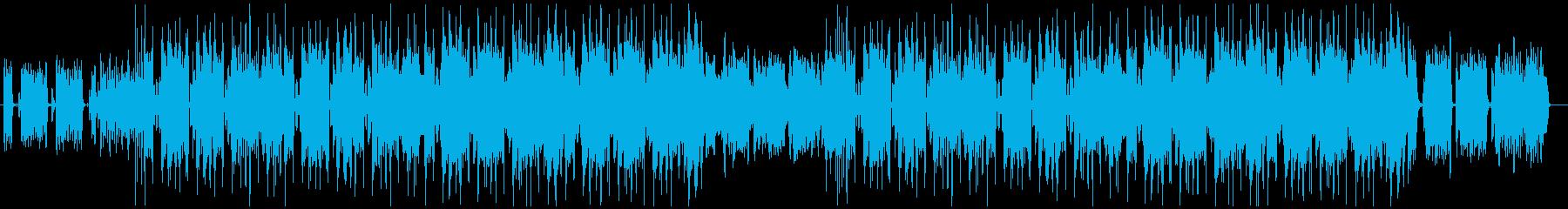 シンセが煌びやかなフューチャーR&Bの再生済みの波形