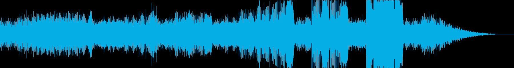 ワクワクしてくるBGM2の再生済みの波形