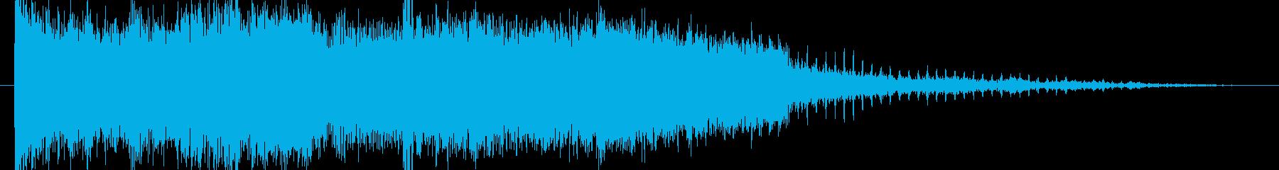 デジタル&金属的なスピンのロゴの再生済みの波形