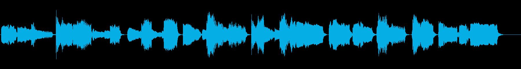さびしげなトランペットソロの再生済みの波形
