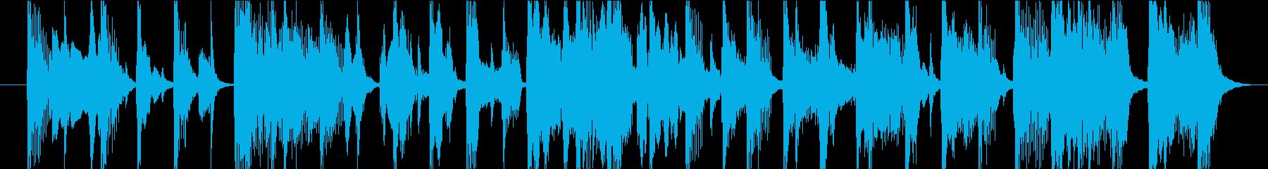 15秒CMサイズの7 ご陽気な曲です。の再生済みの波形