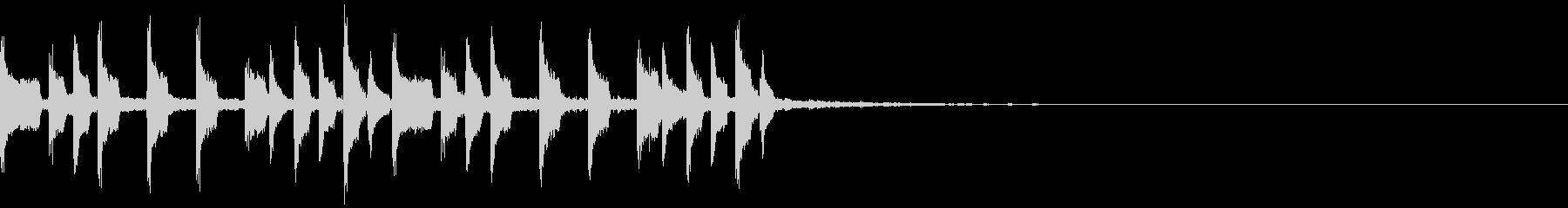 スローなトラップジングル3の未再生の波形