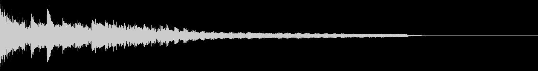 エレガントなピアノリフの未再生の波形