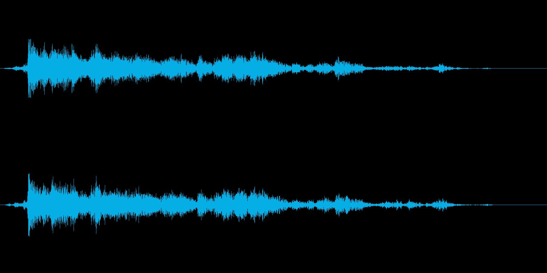 雷鳴 雷が遠くでゴロゴロと鳴る音 遠雷の再生済みの波形