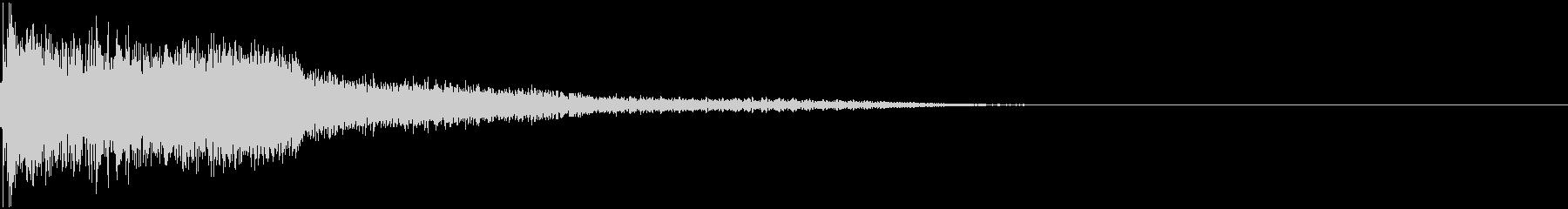 衝撃 金属音 恐怖 震撼 ホラー 06の未再生の波形