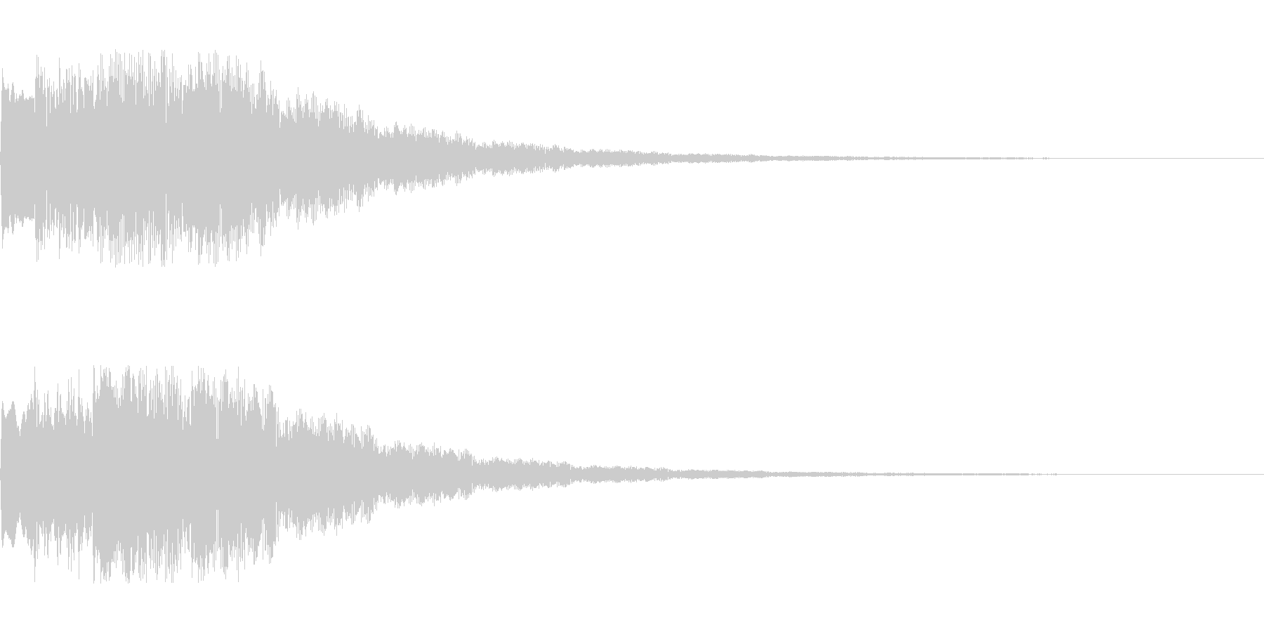 ふわふわした決定音 シンセサイザーの未再生の波形