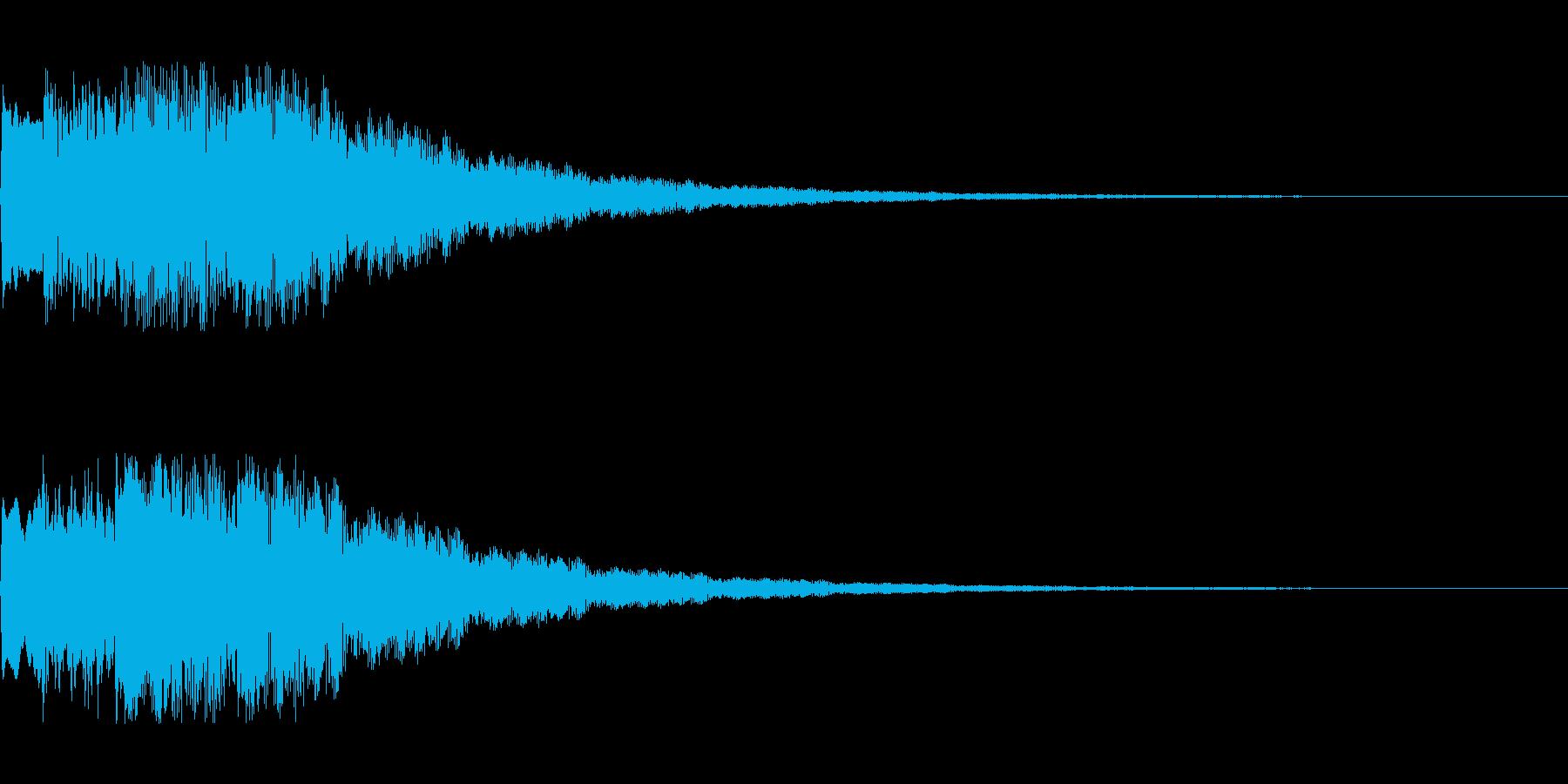 ふわふわした決定音 シンセサイザーの再生済みの波形