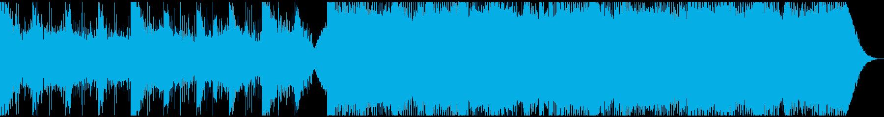 緊張高まる電子サウンドの再生済みの波形