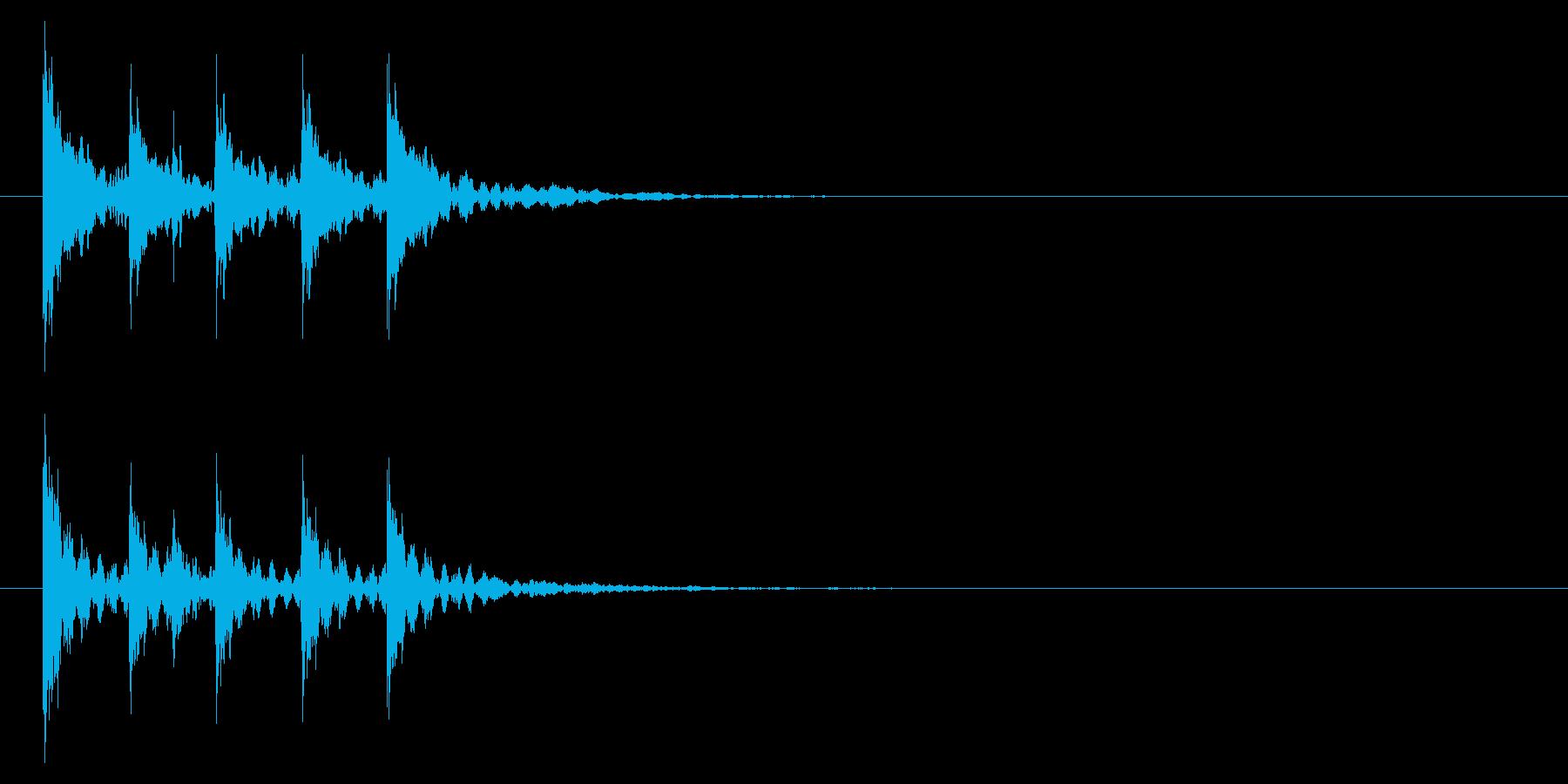トントコトントントン!締め太鼓2リバーブの再生済みの波形