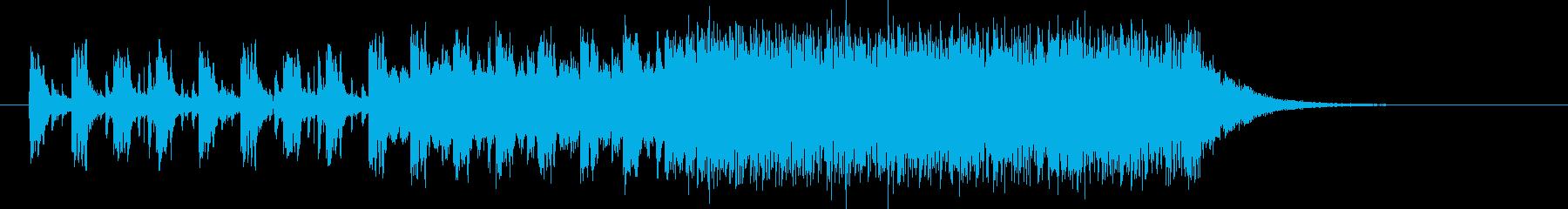 躍動感あるスピーディーなシンセジングルの再生済みの波形
