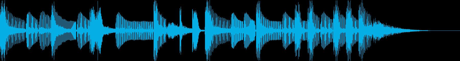 怪しい不気味コミカルなヒップホップfの再生済みの波形