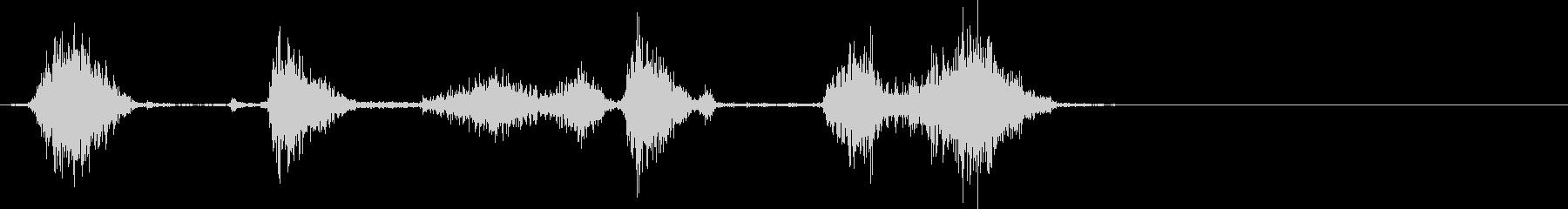 マジックで書く・記入する音(高・短)の未再生の波形