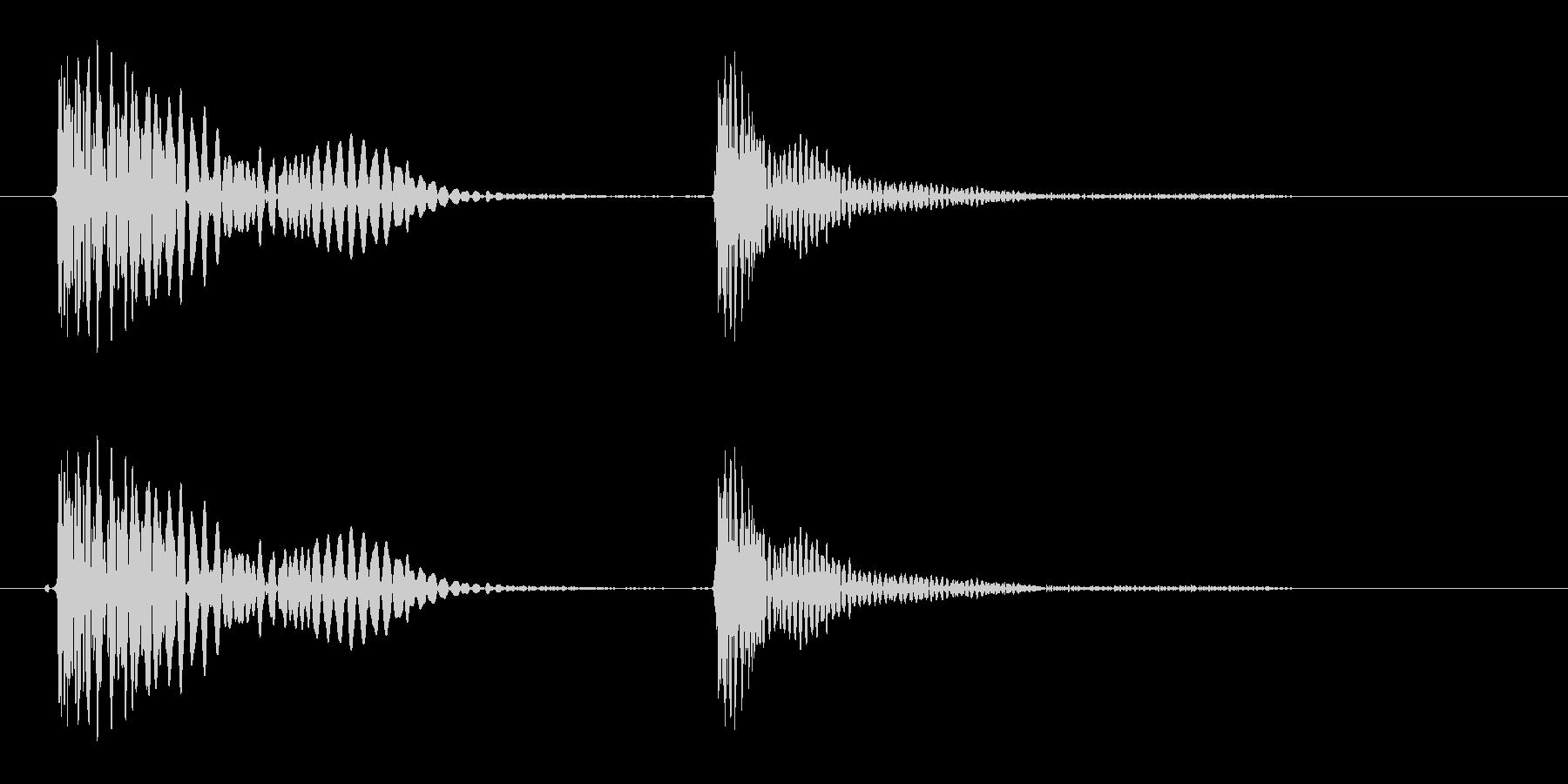 トテ(こける、転倒をイメージする音)の未再生の波形