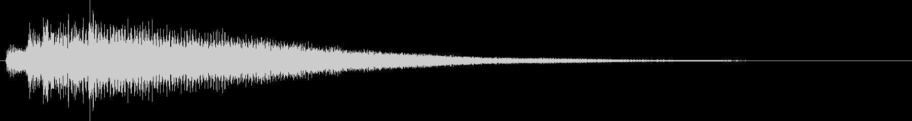 【生演奏】不穏な雰囲気のピアノジングルの未再生の波形