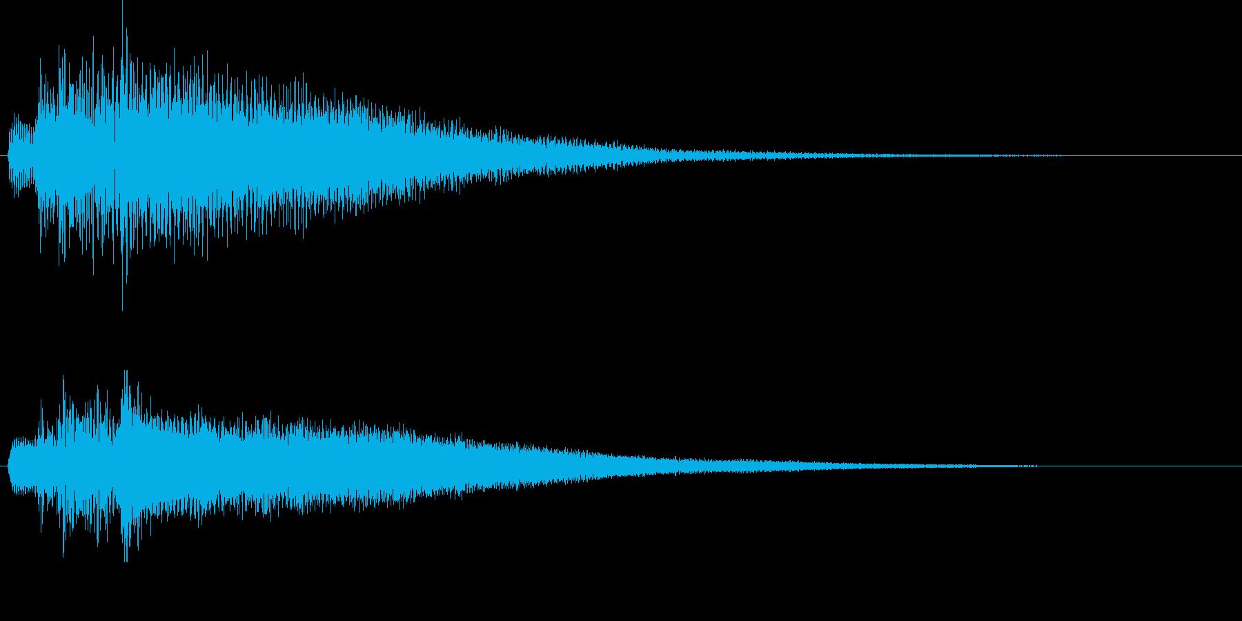 【生演奏】不穏な雰囲気のピアノジングルの再生済みの波形