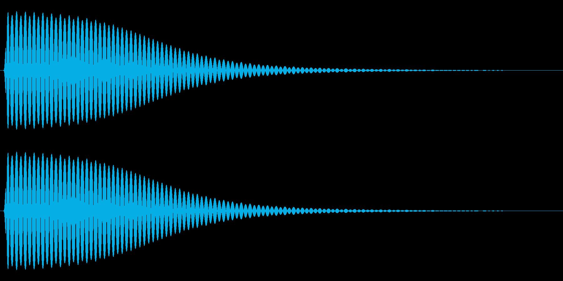 Com ファミコンなどのコマンド音 4の再生済みの波形