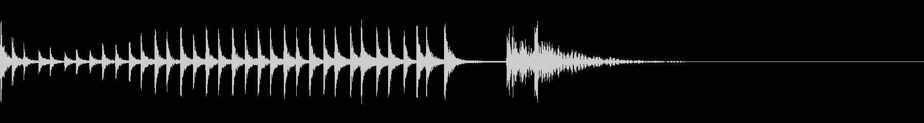 和太鼓のロール音の未再生の波形