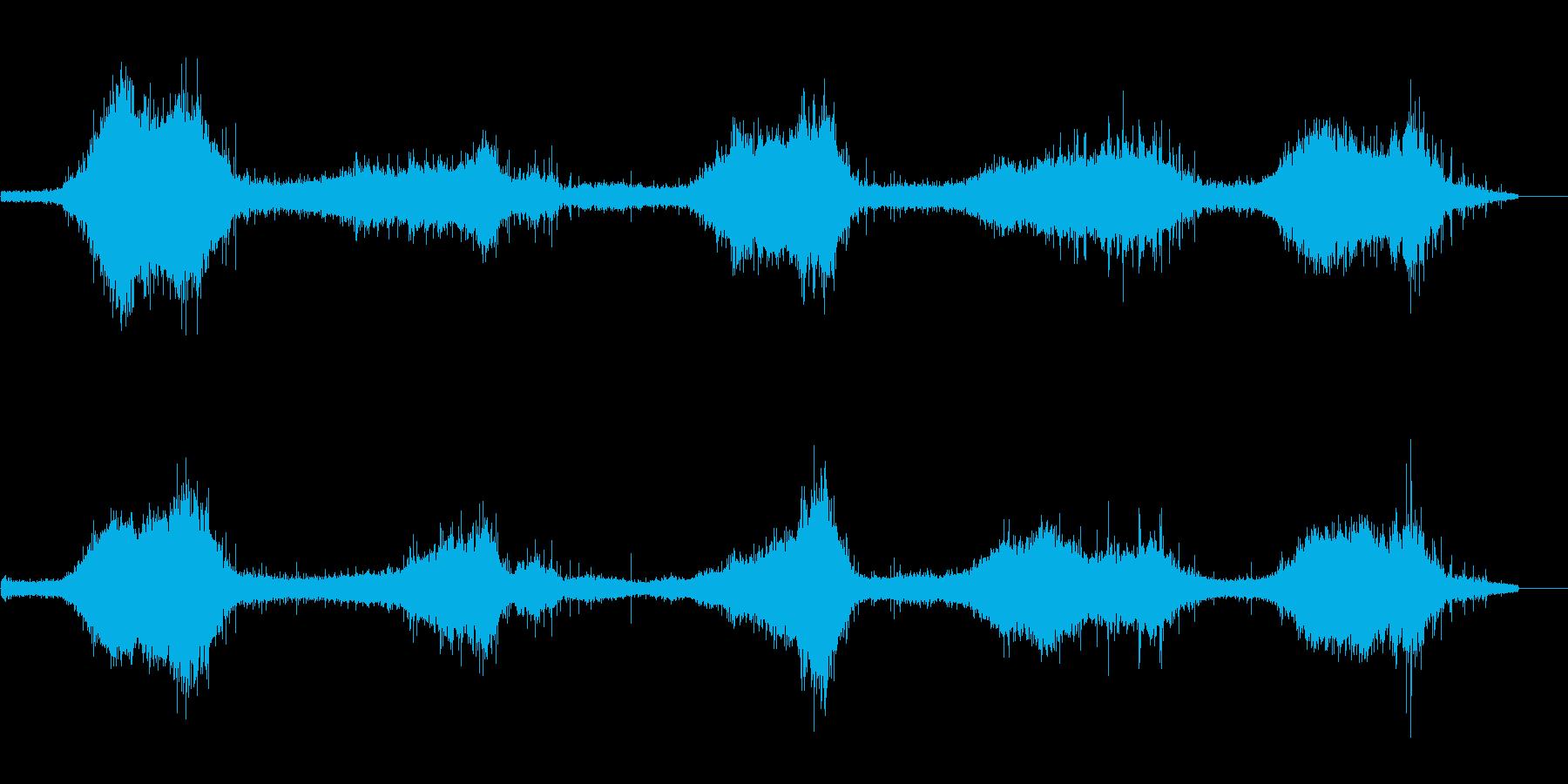 ゴットランド島の波の音 強め ザザーの再生済みの波形