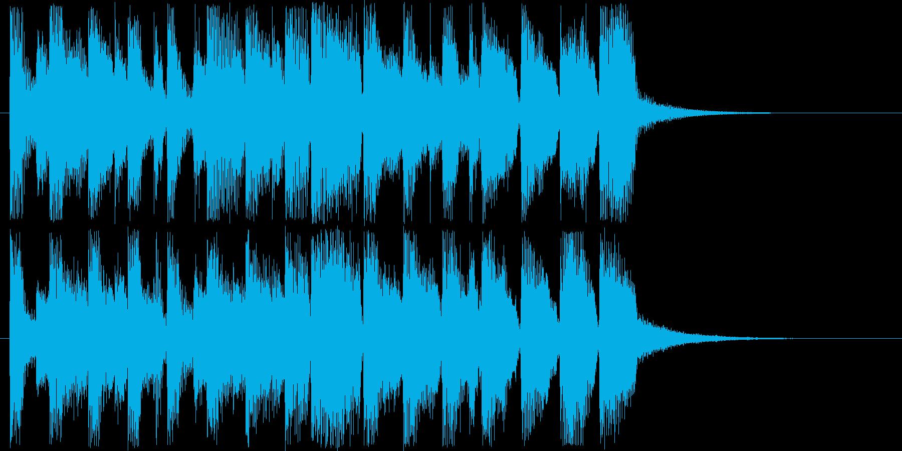 楽しげなショートソングの再生済みの波形