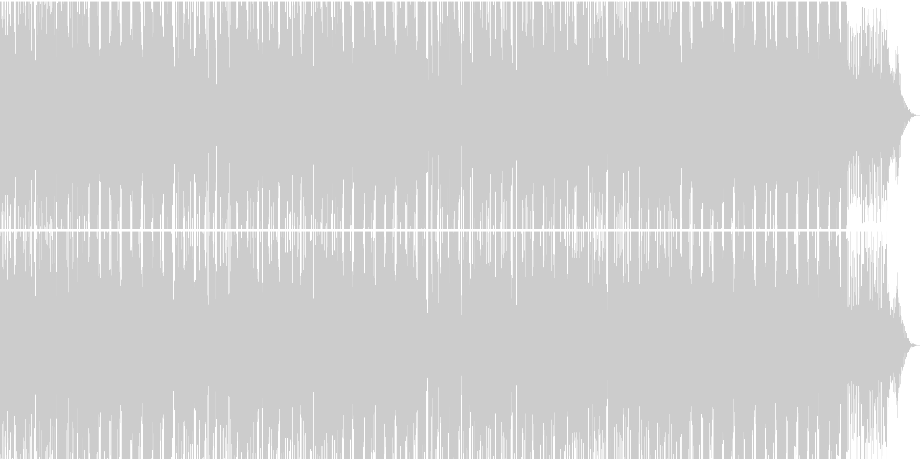 コンテンポラリーR&B系スローラウンジ曲の未再生の波形