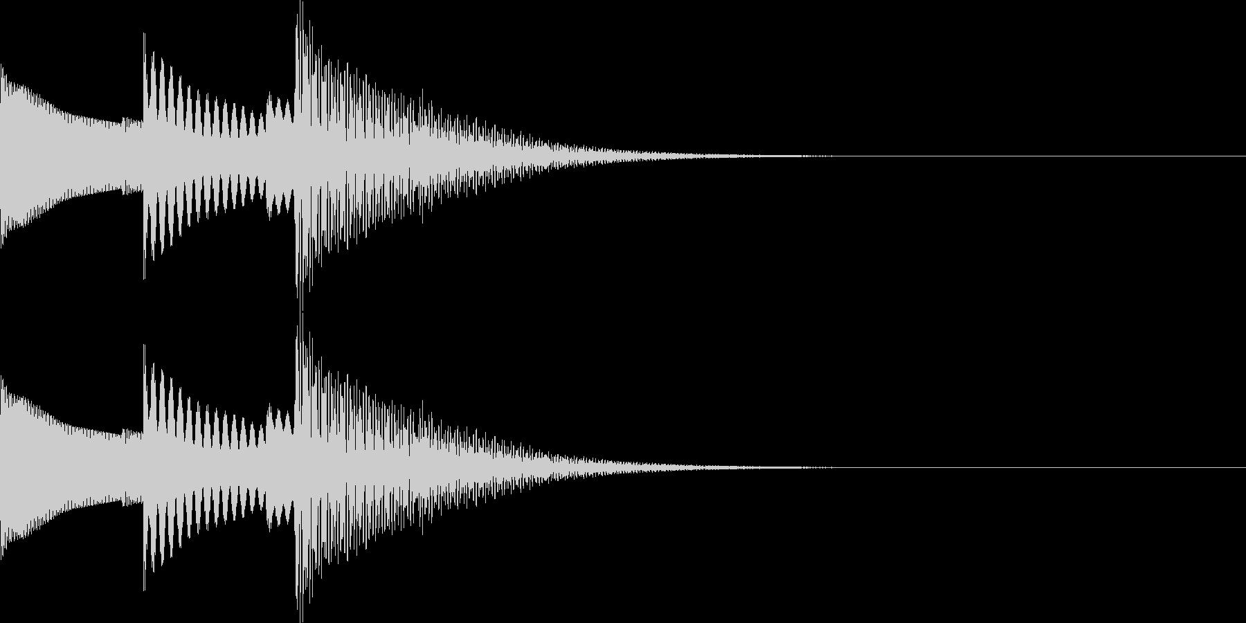 UI系 ぽこぽん かわいい系の未再生の波形