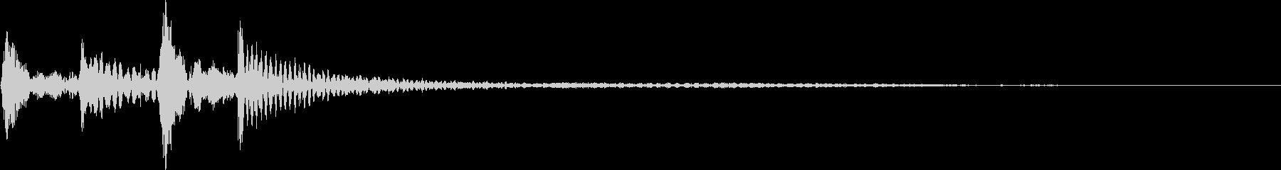 ポコポカン(スワイプ、決定、移動)の未再生の波形
