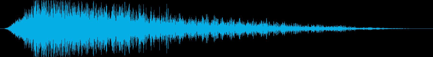 地上への流星衝突爆発の再生済みの波形