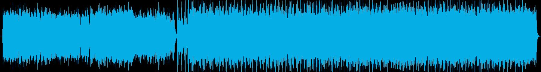 ピアノから始まるロックサウンドの再生済みの波形