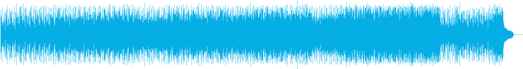 ヒップでポップなダンサンブルビートの再生済みの波形
