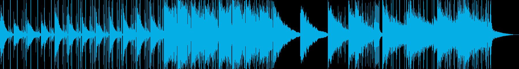 【ジャズ】ムード漂う夜景に合わせた音作りの再生済みの波形