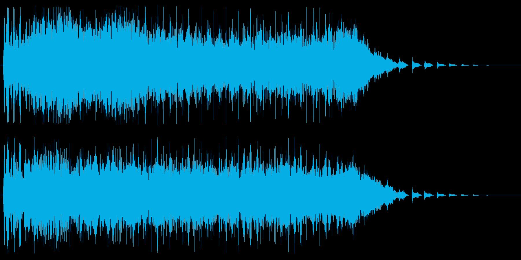 激しく爆発するかのようなジングルの再生済みの波形