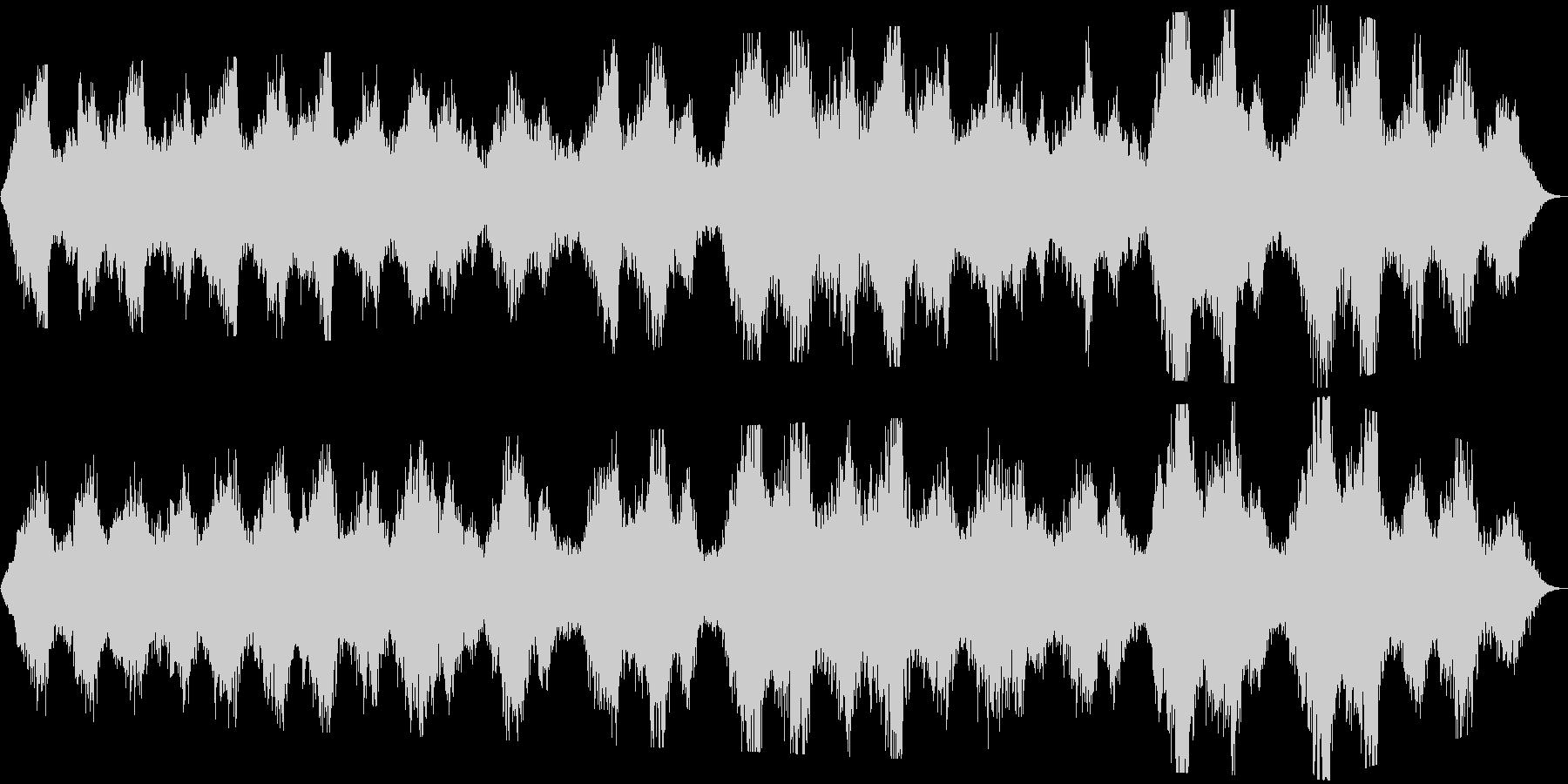優しく静かな内省的ヒーリング系BGMの未再生の波形