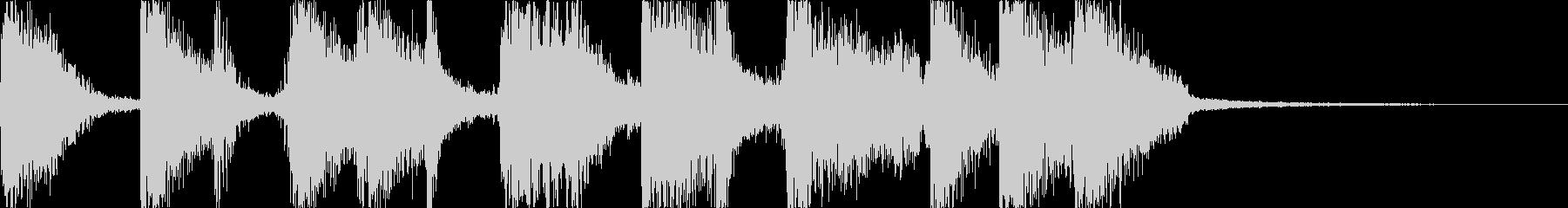 派手できらびやかなブルースジングルの未再生の波形