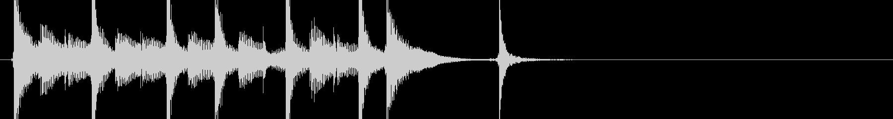 三味線105ロックっぽいリフ生音歌舞伎和の未再生の波形