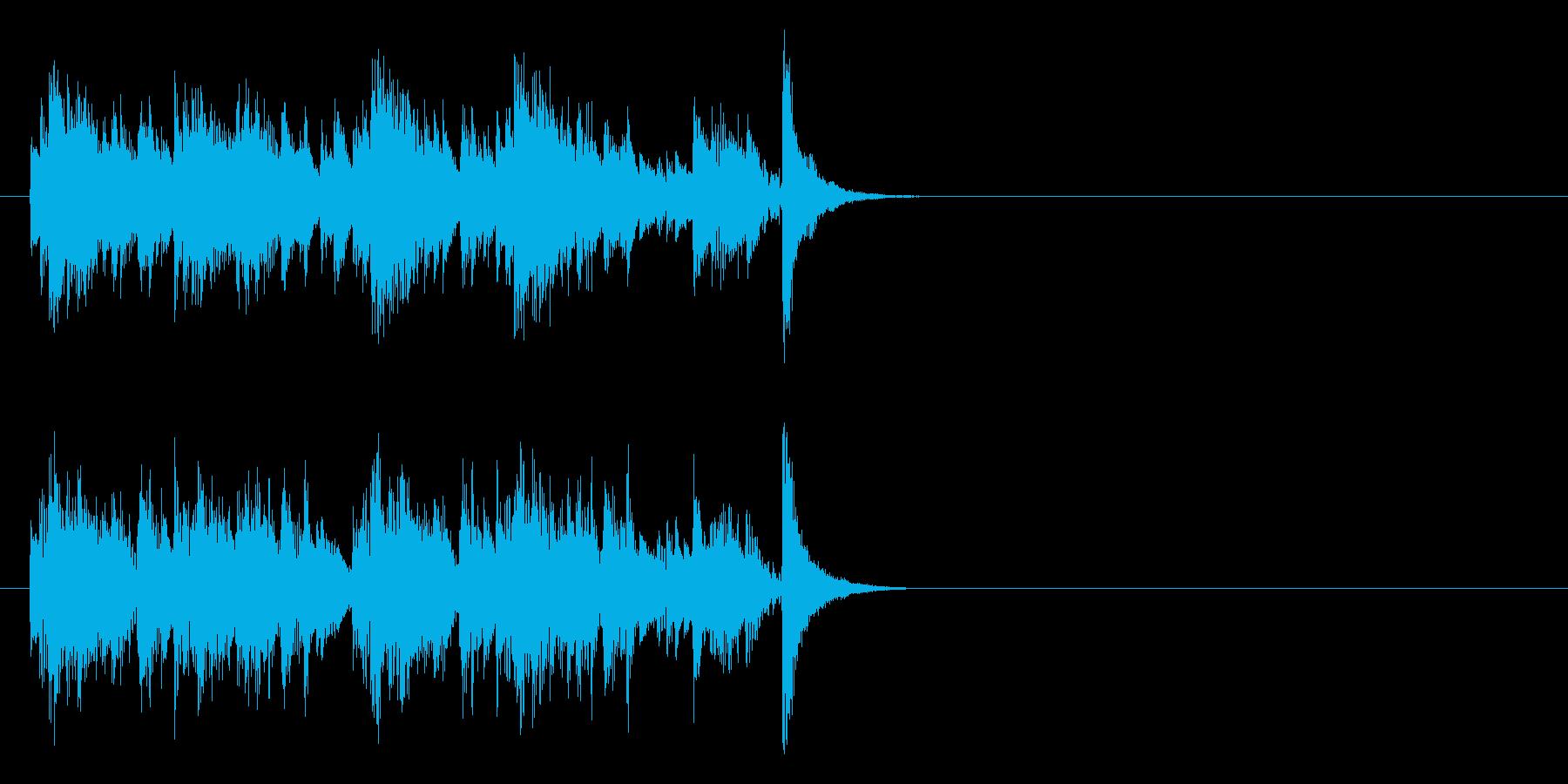 着信音などに使える不思議な感じのジングルの再生済みの波形