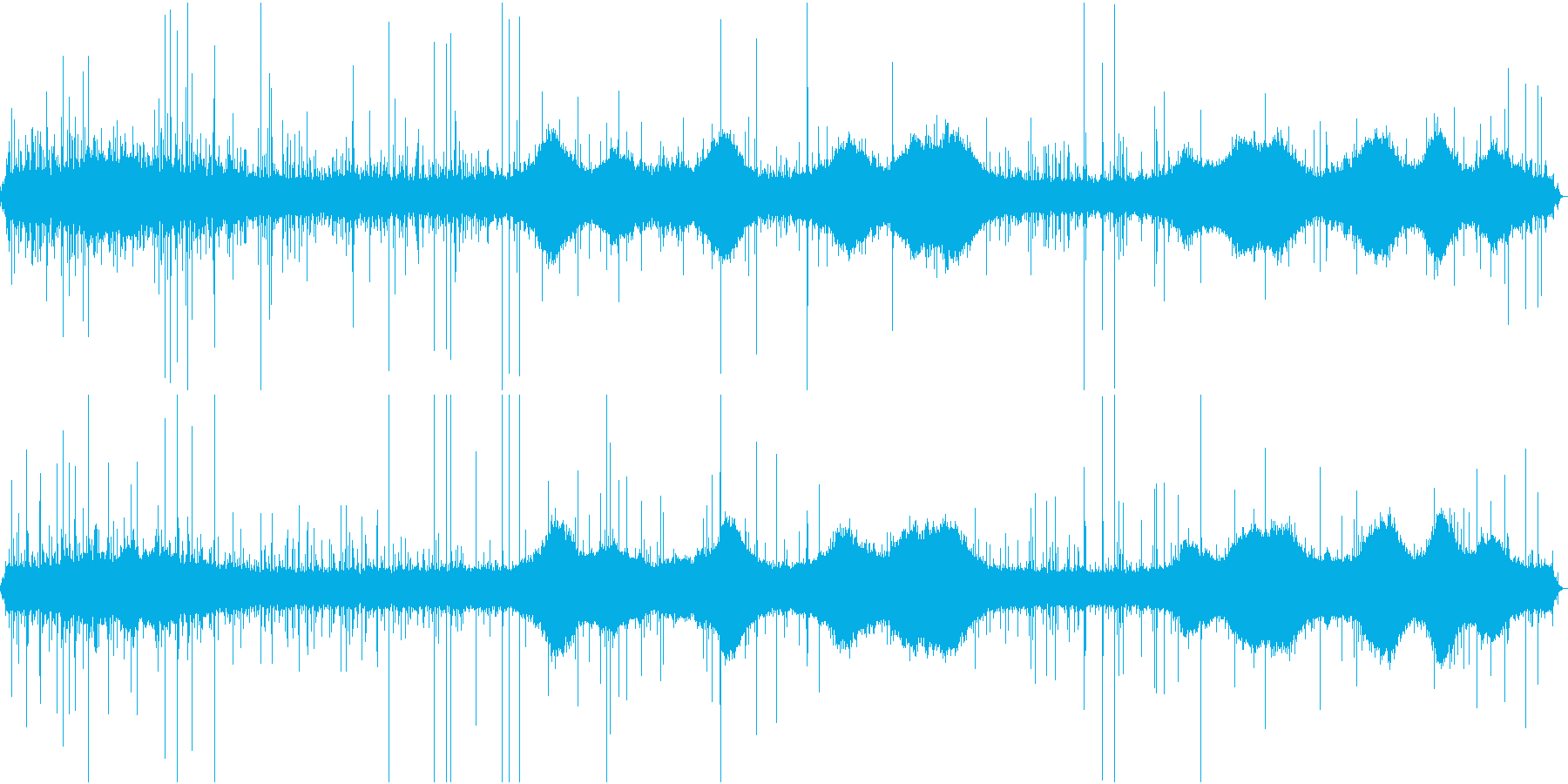【生録音】雨の街の環境音 1 の再生済みの波形