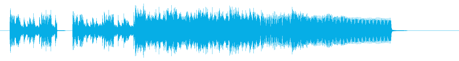躍動感あるワイルドなエレキジングルの再生済みの波形