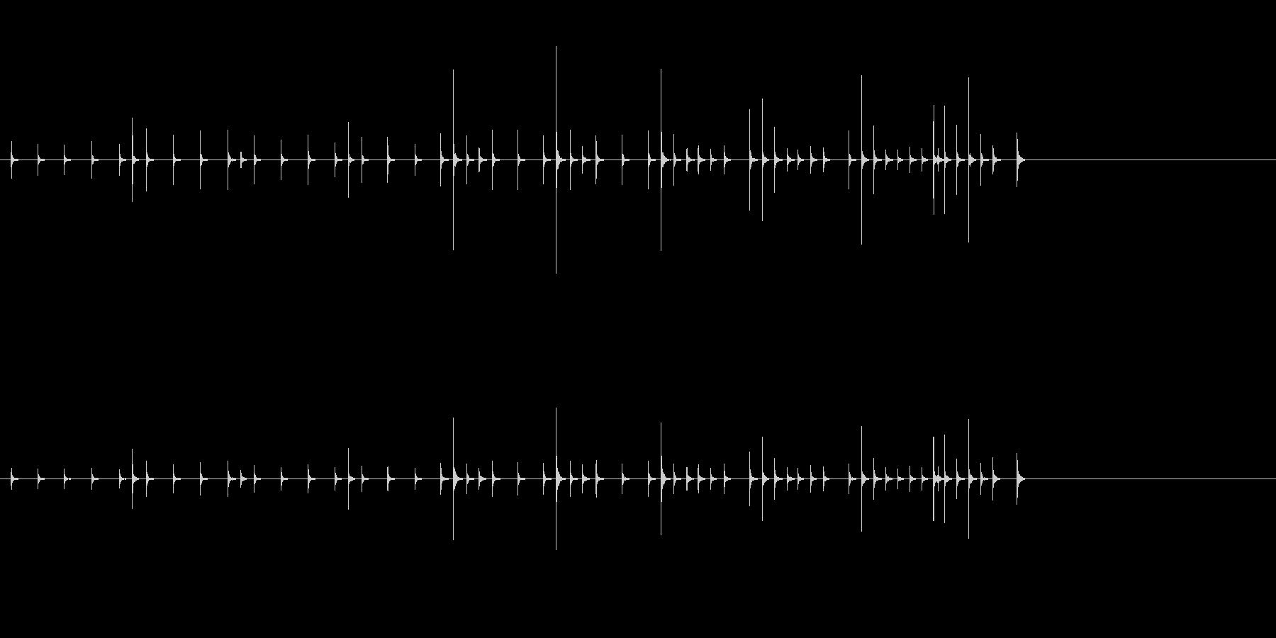 小木魚木章12歌舞伎黒御簾下座音楽和風日の未再生の波形