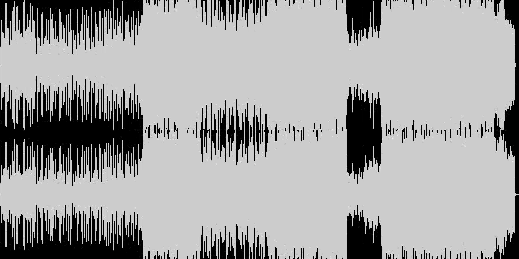 エンディング感のあるバラードBGMの未再生の波形