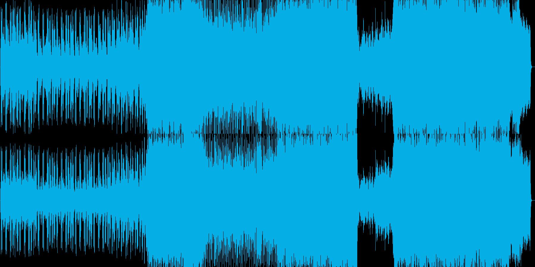 エンディング感のあるバラードBGMの再生済みの波形