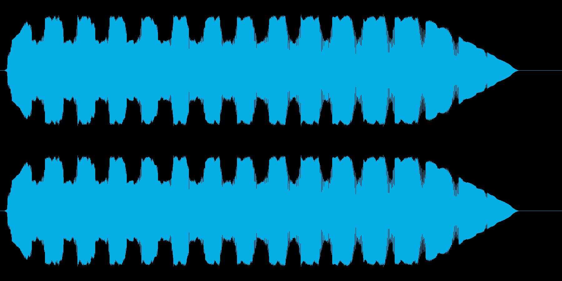ピロピロピューンUFOの高音のループ音の再生済みの波形