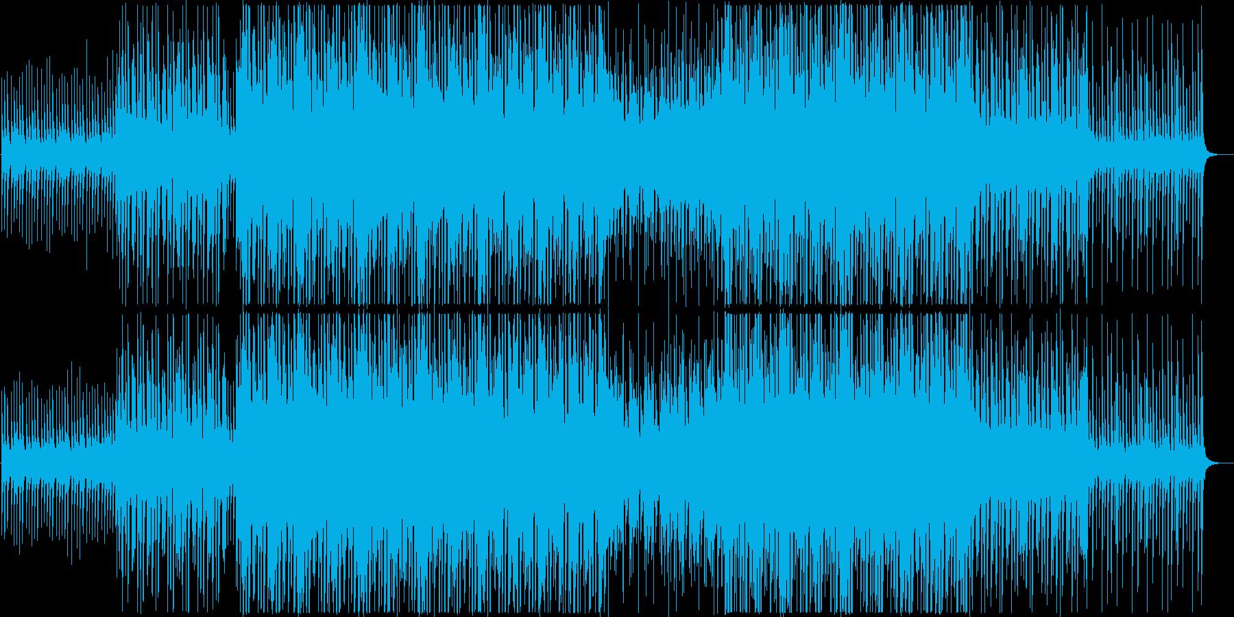 アジアン風で暖かいトロピカルハウス(長めの再生済みの波形