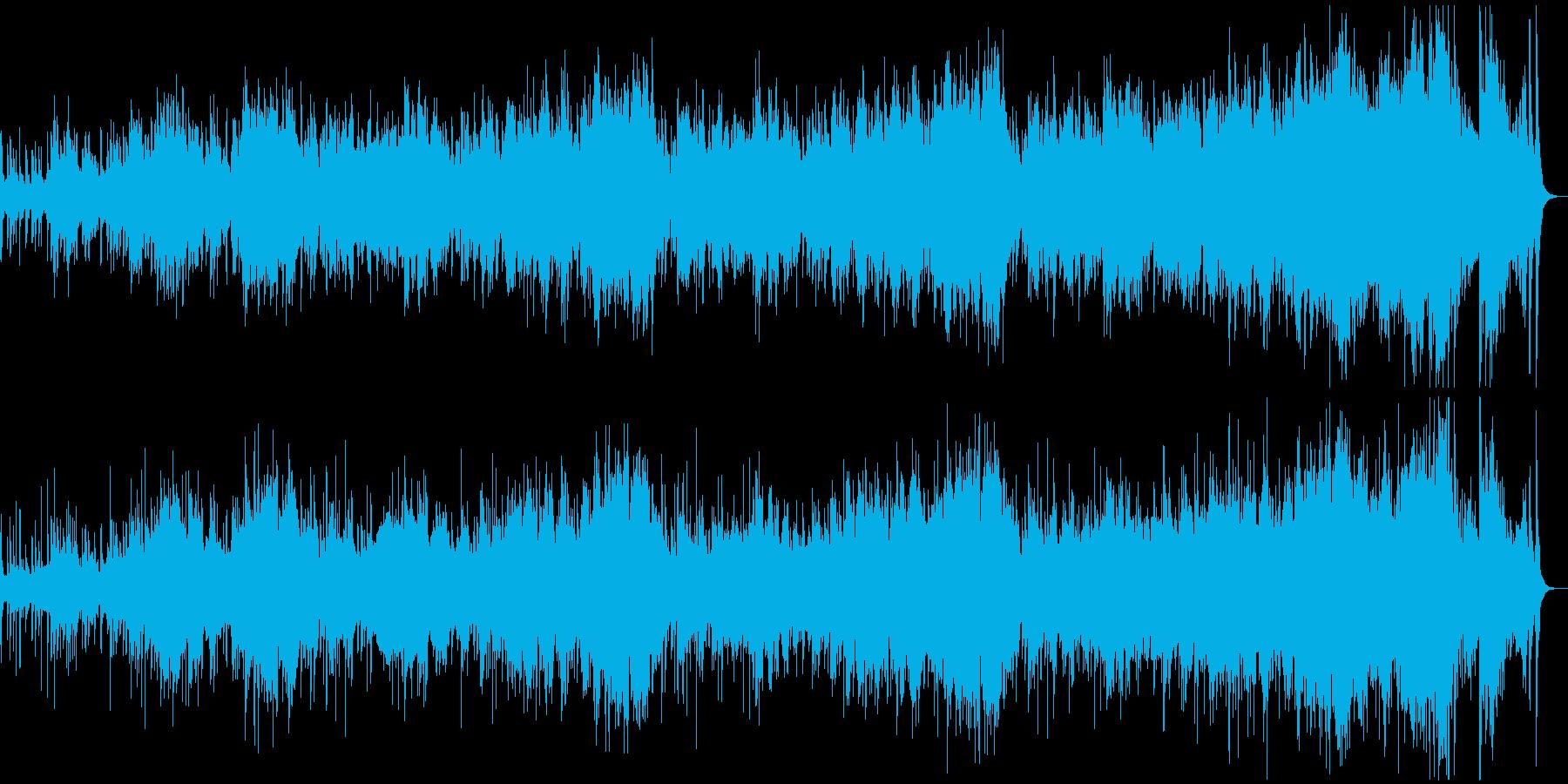 和風で雅な琴とオーケストラの幽玄なBGMの再生済みの波形
