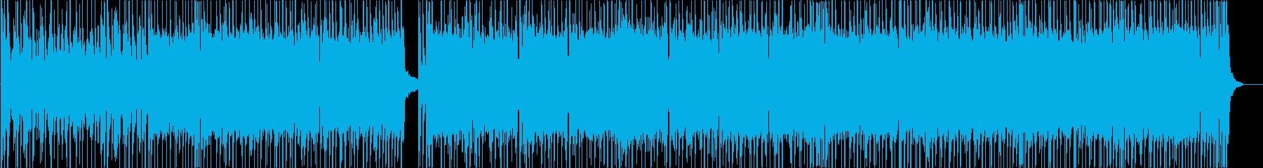 ドラムとシンセの疾走感ある曲の再生済みの波形
