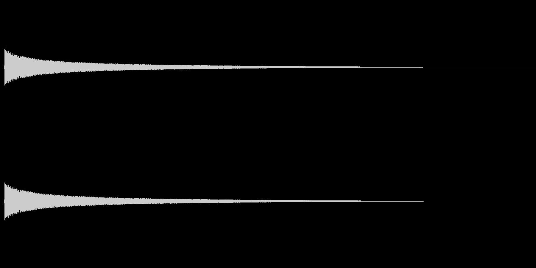 【チーン02-1】の未再生の波形